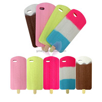PINK Ice Cream Popsicle 3D Silicone Mobile Phone Case For iPhone 6 Plus colorful ice cream stick cases for samsung galaxy grand