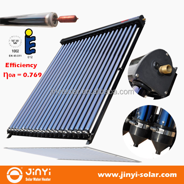 10 to 30 Tubes Solar Keymark Approved Heat Pipe Vacuum Tube Solar Collector