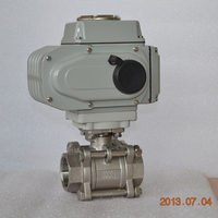 high quality 3 pieces stainless steel electric ball valve