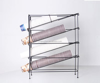 coffee cup holder disposable beverage paper cup display rack metal wire milk tea support stand