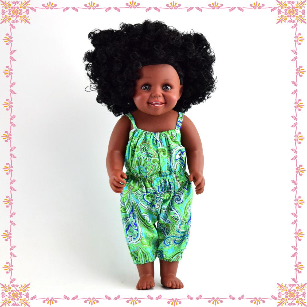 China manufacture CE certificate non-toxic 40cm vinyl american african <strong>doll</strong> for kids