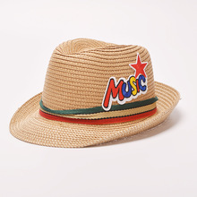 Wholesale wide brim plain blank sun protection coolie wheat straw boater hat