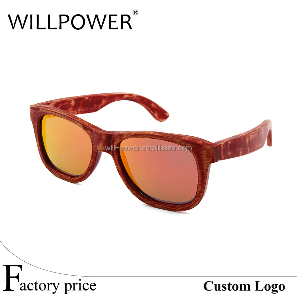 American brand high quality custom spring hinge fishing cork wood sunglasses polarized box wood fake designer eyeglasses