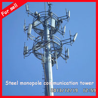 Steel chinese pole communication steel Pole used for hang antenna Guangzhou factory