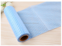 Viscose and polyester nonwoven dish cleaning wipes roll dish cleaning cloth