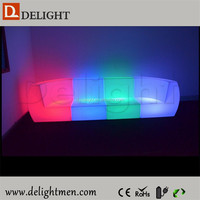 Cheap waterproof illuminated RGB remote control indoor plastic sectional sofa