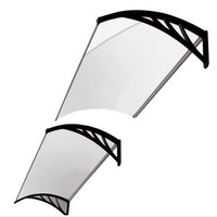 150cm*240cm plastic bracket shelter PC polycarbonate awning,front door canopy canopy tents