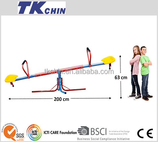 CE certificated 360 degree rotational metal seesaw seat prices