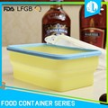 Home kitchen usedful airtight collapsible silicone rice storage box