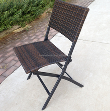 Mail order package steel rattan folding chair patio wicker furniture