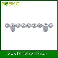 High lever glass handle crystal rinestone handle for furniture supplier
