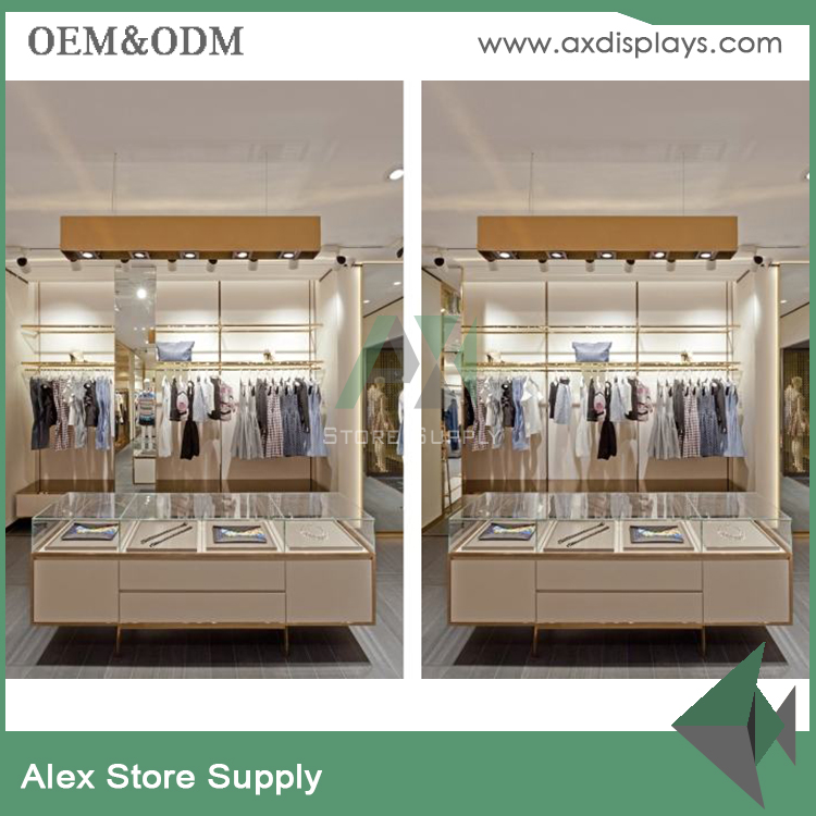 Retail store clothing display ideas vintage garment display rack stand