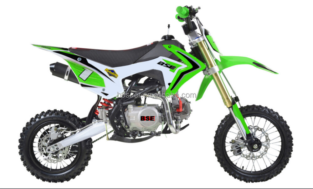 2016 Green color 125cc 140cc 150cc 160cc dirtbike pit bike off road motorcycle china manufacture oem