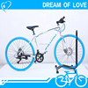 TOPSPEED!! 700C Wheels Freestyle Road Bike with Top Speed 21/Cheap Price Colorful Road Bicycles with Aluminum Alloy Frame