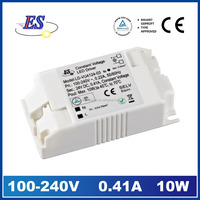 10W 410mA 24V AC-DC Constant Voltage Waterproof LED Driver Power Supply with CE TUV UL CUL approved