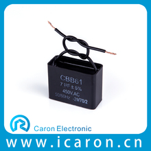 Cbb Series New Product CE Ceiling Fan Capacitor 3 Wire Cbb61