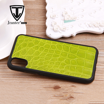 Real Crocodile Leather Cell Phone Case for I phone  X Case Wholesales