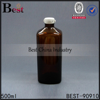 30ml 50ml 60ml 100ml 125ml 300ml 500ml amber glass bottle medicine lab glass bottle with tear off cap manufacturer