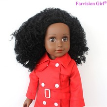 Curly princess african american black girl doll 18 inch with afro hair
