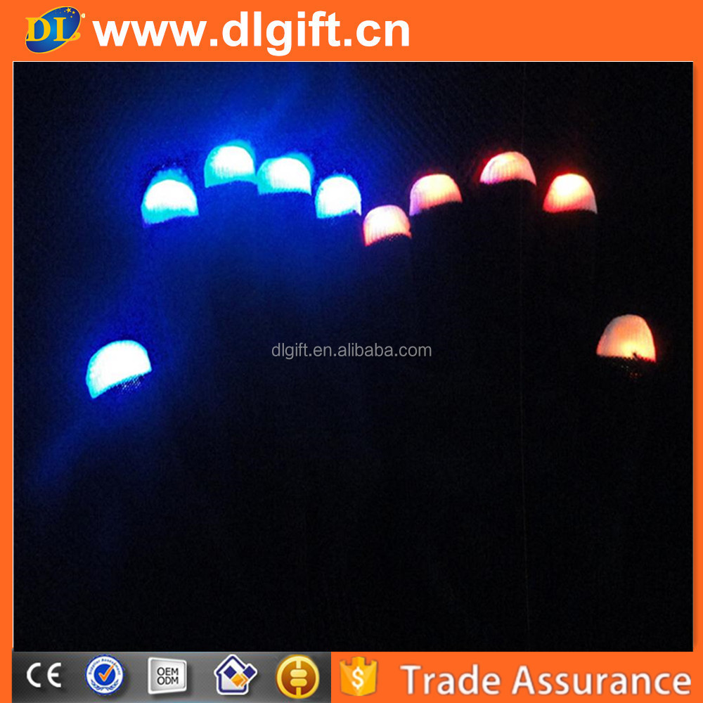 led gloves as gifts/Magic white LED Flashing Finger Tip Gloves Rave Glow Flashing Lights Light Up Club Dance PARTY