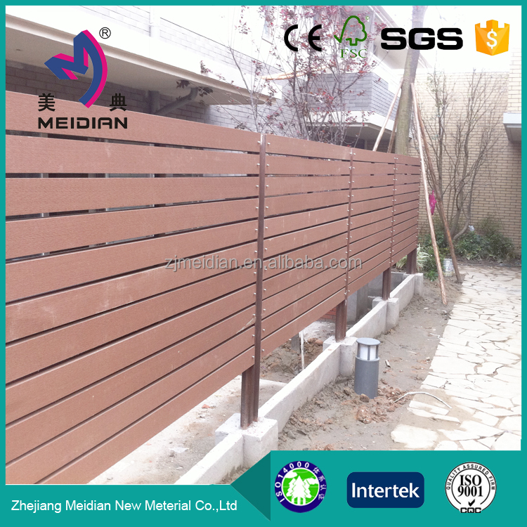 Environmental friendly less warping wpc wooden roll fence