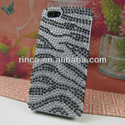 Zebra Sparkling Crystal Bling Hard Case Cover for Apple iPhone 5 5G