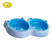 Top sale guaranteed new design double diner pet bowl plastic