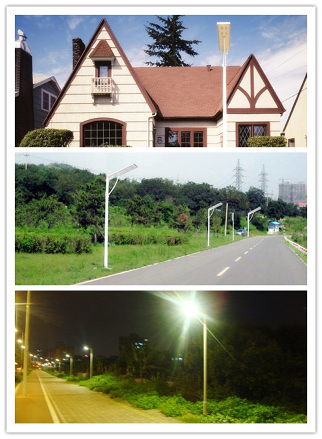 CE ROHS TISI approved 20w integrated solar led street light with sensor motion