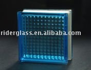 Blue Parallel Glass Block