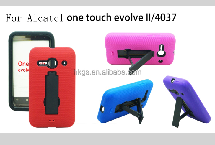 For Alcatel One Touch Evolve 2 II 4037T 4037 Hybrid Combo Case Kickstand Reliable Chinese Supplier