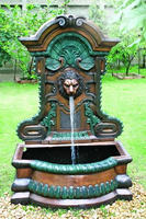 bronze wall water fountains with lion head W28inch L45.6inch H72inch