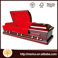Magistrate Red US Style Casket Lining Luxury Standard Coffin