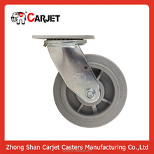 8 inch heavy duty high strength artificial rubber caster wheels wholesale
