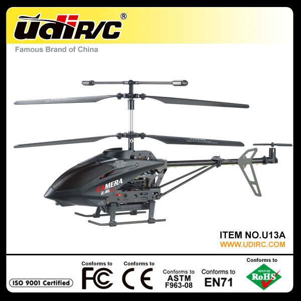 Udirc 2.4G mid metal rc helicopter with camera U13A