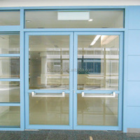 HD126 clear view glass hermetic doors for hospital and commercial