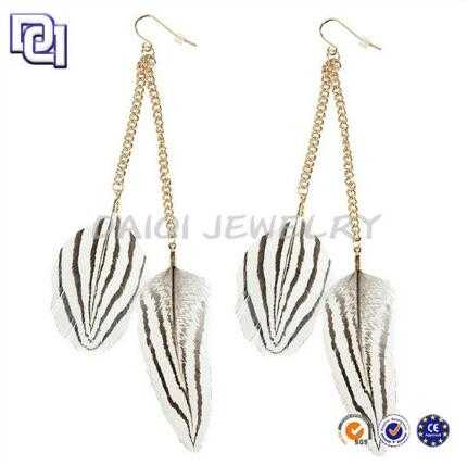 Hot Style Fashion Feather Earring, Indian Hot Sex Earring Photos ,Charm 18k Gold Earrings For Women