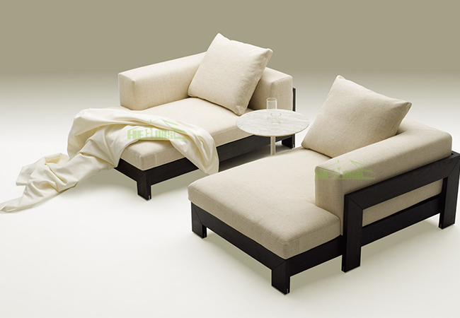 Latest Design Hall Sofa Set Wooden L Shaped Corner Sofa