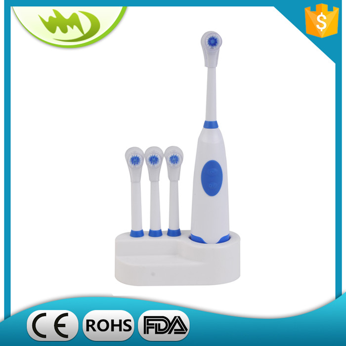 New Products 2017 Innovative Products Rounded Bristle Toothbrush Adult Toothbrush with Extra Replacement Brush Heads
