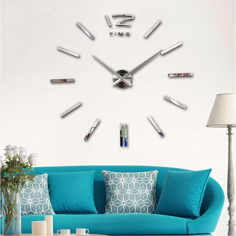 New Home decorations big EVA mirror wall clock Modern design large decorative designer wall clock watch wall sticker unique gift