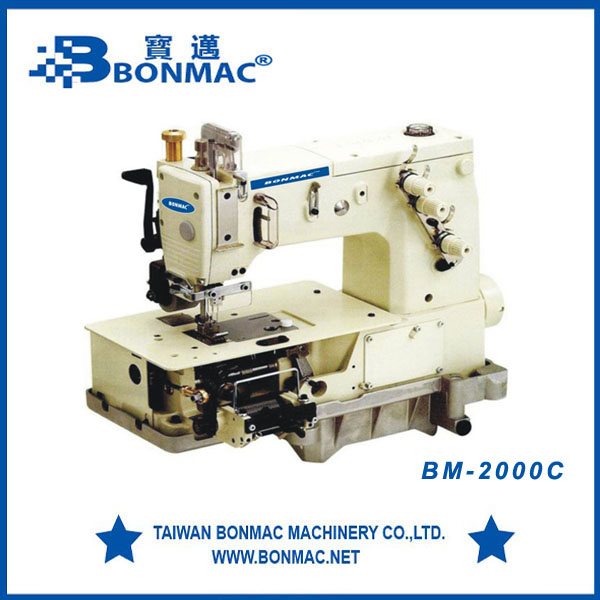 BM-2000C Making Belt Loop With Front Cutter Interlock Industrial Sewing Machine Double Needle Price