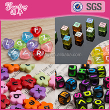 2016 trending hot products heart flower dice square letters alphabet beads