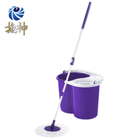 Twist&Shout Clean Room Mop Rotating Spin Magic Mop With Bucket Microfiber Mop