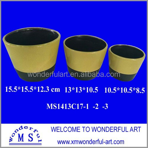 unique ceramic half round flower pot for home decor