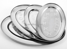 Stainless steel oval dish/plate