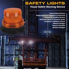 Amber square led ambulance warning flashing 24v Strobe Beacon Light Amber Led Strobe Lights For Forklift Truck