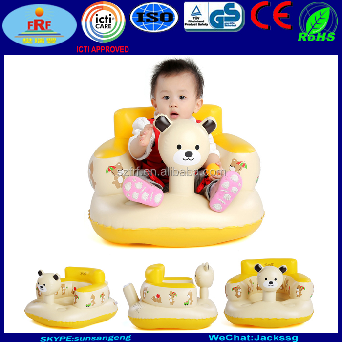 Inflatable baby seat, inflatable baby bath chair