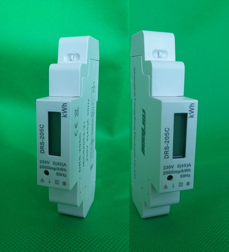 Single phase Din rail electronic kwh energy meter for remote control frequency meter