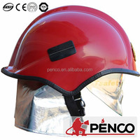 Old type full face visor fire proof helmet for fire fighters safety helmet