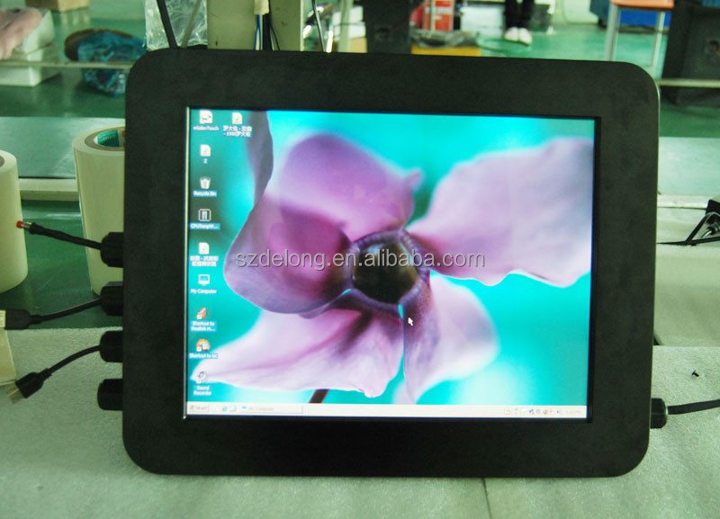 "15"" infrared touch PC with IP65 ,4 RS232/ 2 RJ45 ,2USB ,full waterproof"