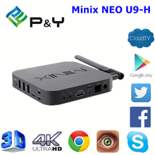 Minix NEO U9-H S912 2G 16G smartphone projector air mouse keyboard with best quality and low price Android 6.0 TV Box